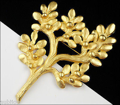 Vintage Huge Il Etait Une Fois Floral Tree Brooch Pin French Designer Jewelry