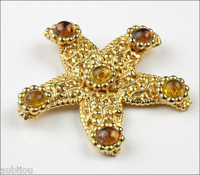 Vintage dominique aurientis starfish runway brooch pin set for Couture france