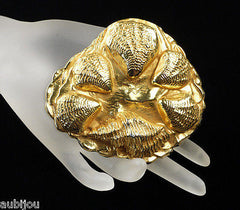 Vintage Dominique Aurientis Seashell Runway Brooch Pin Haute Couture France 80's