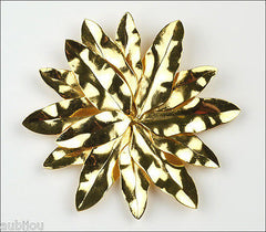 Vintage Dominique Aurientis Flower Runway Brooch Pin Haute Couture France 1980's