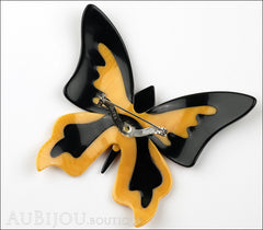 Lea Stein Elfe The Butterfly Insect Brooch Pin Light Orange Green Multicolor Back