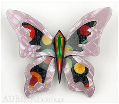 Lea Stein Elfe The Butterfly Insect Brooch Pin Lilac Green Celestial Multicolor Front