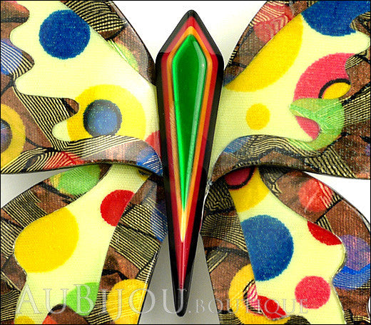 Lea Stein Elfe The Butterfly Insect Brooch Pin Multicolor Polka Dots Gallery