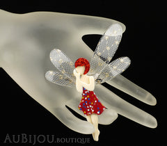 Lea Stein Fairy Demoiselle Volage Magic Wings Red Gold Mannequin