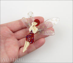 Lea Stein Fairy Demoiselle Volage Magic Wings Red Gold Model