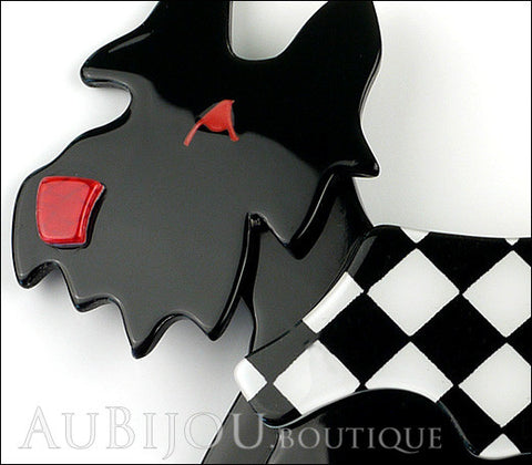 Lea Stein Kimdoo Dog Scottish Terrier Brooch Pin Black White Gallery