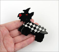 Lea Stein Kimdoo Dog Scottish Terrier Brooch Pin Black White Model