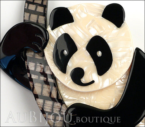 Lea Stein Panda Bear Brooch Pin Cream Black Beige Gallery