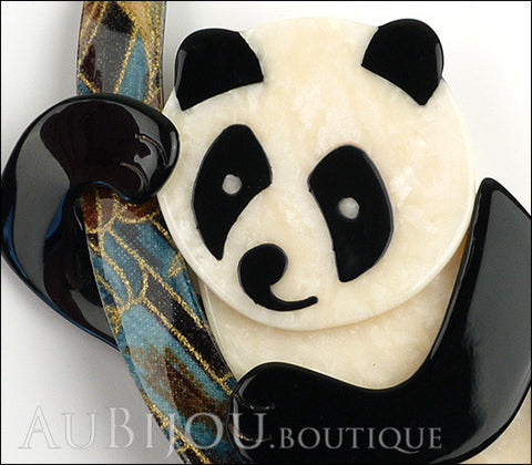 Lea Stein Panda Bear Brooch Pin Cream Black Multicolor Gallery