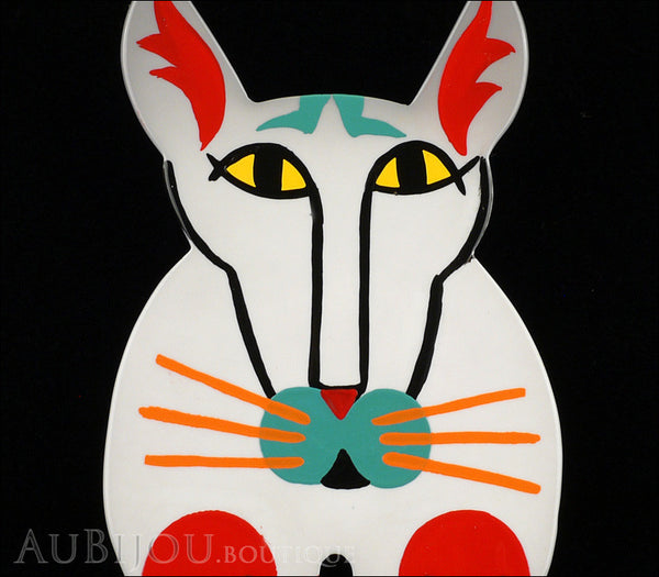 Marie-Christine Pavone Brooch Cat Cotinus Grey Multicolor Galalith Limited Edition Gallery