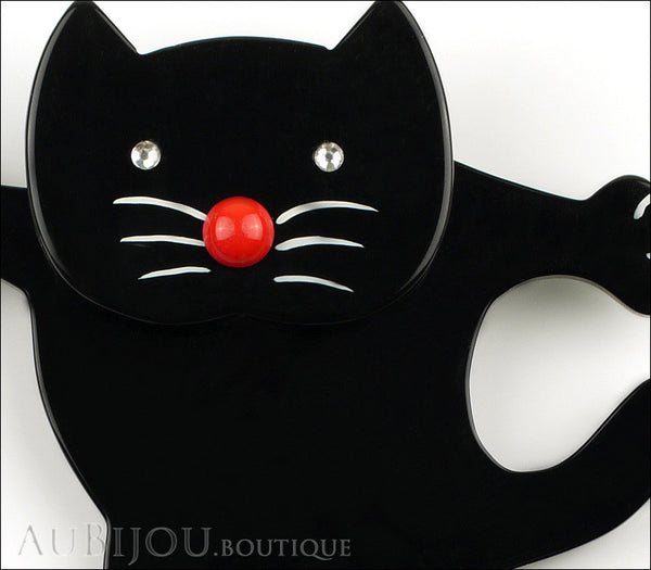 Marie-Christine Pavone Brooch Cat Dancing Black Galalith Gallery