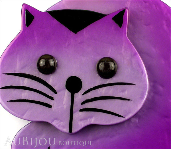 Marie-Christine Pavone Brooch Cat Roudoudou Purple Galalith Gallery