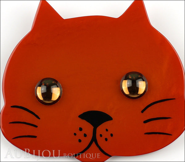Marie-Christine Pavone Brooch Cat Tete Ginger Galalith Gallery