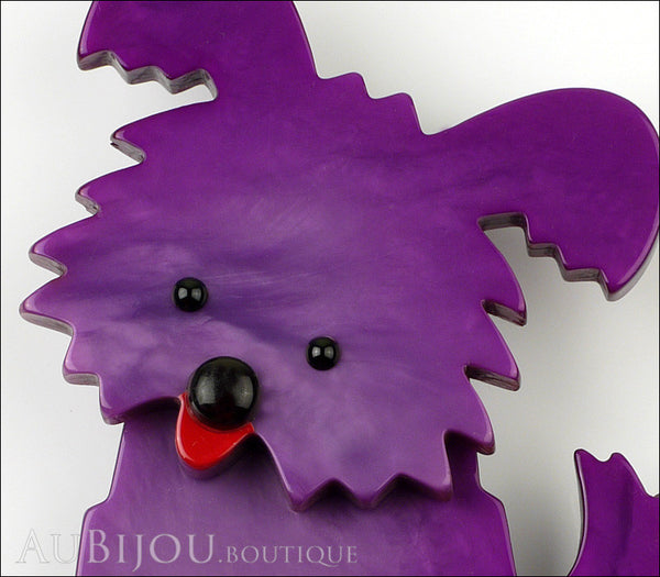 Marie-Christine Pavone Brooch Dog Bobby Purple Galalith Gallery