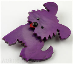 Marie-Christine Pavone Brooch Dog Bobby Purple Galalith Side