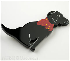Marie-Christine Pavone Brooch Dog Labrador Black Galalith Side