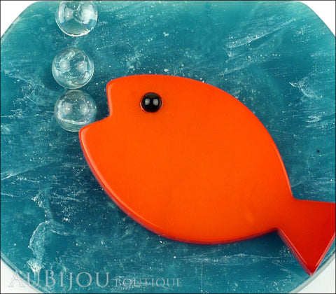 Marie-Christine Pavone Brooch Fish Bowl Orange Turquoise Galalith Gallery