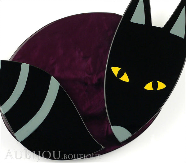 Marie-Christine Pavone Brooch Fox Curling Black Purple Galalith Gallery