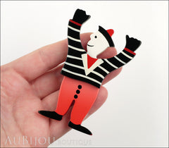 Marie-Christine Pavone Pin Brooch Sailor Seaman Red Black Galalith Paris France Model