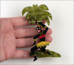 Marie-Christine Pavone Brooch Josephine Baker Palm Tree Galalith
