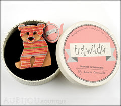Erstwilder Bear Brooch Pin Bernard the Brave Box