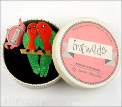 Erstwilder Bird Brooch Pin Liv and Len Lovebird Box