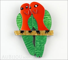 Erstwilder Bird Brooch Pin Liv and Len Lovebird Front