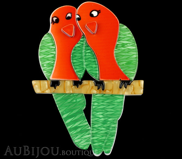 Erstwilder Bird Brooch Pin Liv and Len Lovebird Gallery