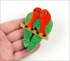 Erstwilder Bird Brooch Pin Liv and Len Lovebird Model