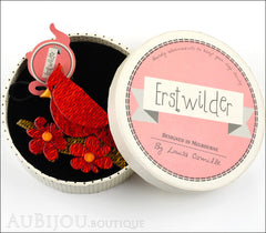 Erstwilder Bird Brooch Pin Ruby the Red Cardinal Box