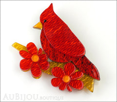 Erstwilder Bird Brooch Pin Ruby the Red Cardinal Front
