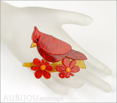 Erstwilder Bird Brooch Pin Ruby the Red Cardinal Mannequin