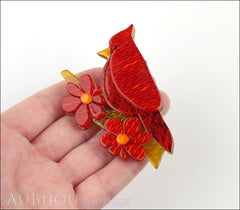 Erstwilder Bird Brooch Pin Ruby the Red Cardinal Model
