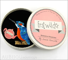 Erstwilder Bird Pin Brooch Karmen Kingfisher Box