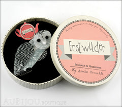 Erstwilder Bird Pin Brooch Miah Masked Owl Box