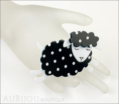 Erstwilder Brooch Pin Bellamy the Black Sheep Mannequin