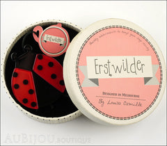 Erstwilder Brooch Pin Loving Lila Ladybug Box