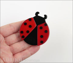 Erstwilder Brooch Pin Loving Lila Ladybug Model