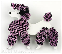 Erstwilder Brooch Pin Paige the Prancing Poodle Purple Violet Front