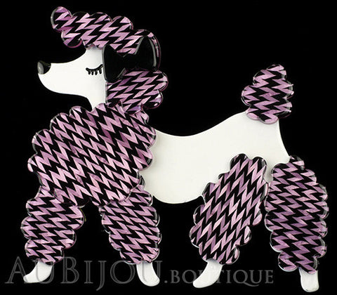 Erstwilder Brooch Pin Paige the Prancing Poodle Purple Violet Gallery