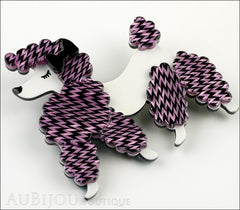 Erstwilder Brooch Pin Paige the Prancing Poodle Purple Violet Side