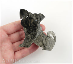 Erstwilder Dog Pin Brooch Preston Pug Grey Model