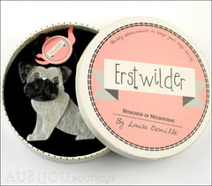 Erstwilder Dog Pin Brooch Preston Pug White Box