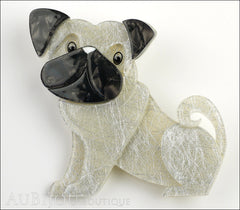 Erstwilder Dog Pin Brooch Preston Pug White Front