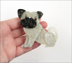 Erstwilder Dog Pin Brooch Preston Pug White Model