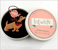 Erstwilder Dutch Hound Dog Pin Brooch Bitsa Bob Box