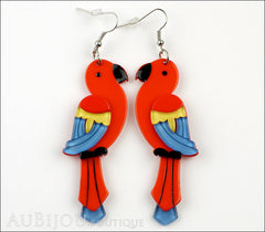 Erstwilder Earrings Pancha's Parrots Red Front