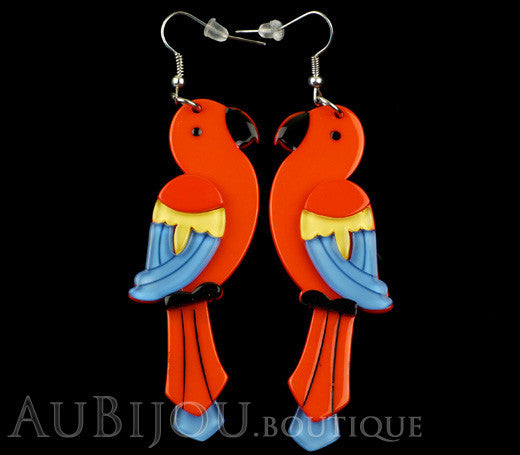 Erstwilder Earrings Pancha's Parrots Red Gallery