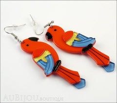 Erstwilder Earrings Pancha's Parrots Red Side