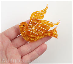 Erstwilder Pin Brooch Barbarella's Bird Yellow-Orange Model